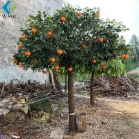 Restaurant Decoration Artificial Fruit Tree , Artificial Orange Tree With Silk for sale