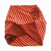 China Knitted fashionable neck warmer, solid with stripes combined, suitable for ladies on sale