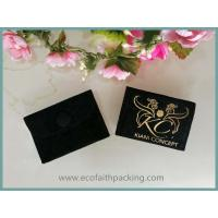 Buy cheap customized velvet jewelry bag with button golden logo printing from wholesalers