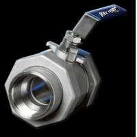 Quality Flange three-piece ball valve with ISO PAD for sale