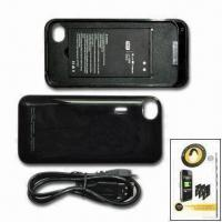 Quality Battery Case with 1,700mAh Capacity, Suitable for Apple's iPhone 4, Available in Black for sale