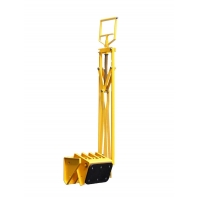 Quality Traffic Yellow 151*218*816mm Smart Parking Lock for sale