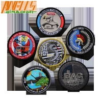 China France Fire And Aviation Embroidery Patch With Custom Design And Velcro Hook And Loop Backing on sale