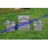 Buy outdoor garden modern grey 4pcs rattan sofa set witn BSFR cushions RLF-2469SF at wholesale prices