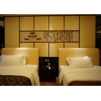 Buy cheap Comfortable Single Bed Wooden Bedroom Furniture With Leather Upholstered product