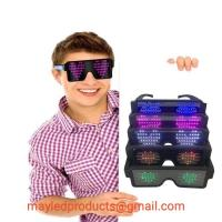 Quality LED Flashing Luminous/Fluorescent Colorful Shutter Party Night Club Glasses Or Lenses In Transparent Fashional Light Fra for sale