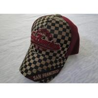 Quality Custom Embroidered Sports Mens Baseball Caps With Metal Buckle for sale