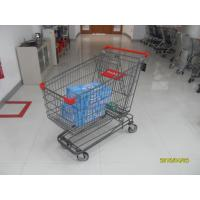 Buy cheap Grey Powder Coating Asian Type Wire Shopping Trolley 210L With 4 Swivel 5 Inch Casters from wholesalers