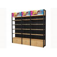 Buy cheap Cold Rolled Steel Supermarket Shelving Wood Gondola Shelving Classic Style from wholesalers