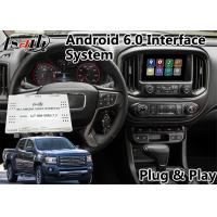 Quality Android 6.0 Auto video interface for GMC Canyon 2014-2018 buiilt in wifi bluetooth mirrorlink navigation for sale