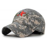 Quality Adjustable Embroidered Baseball Caps 100% Cotton Army Style For Adults for sale