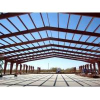 Quality Big Span Warehouse Steel Structure With Red Anti-Rust Painting for sale