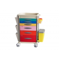 China All Drawers Design ABS Hospital Trolley With Defibrillator shelf on sale