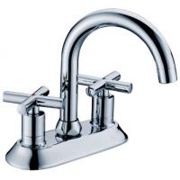Quality Chrome Polished Basin Mixer Faucet with Two Handles for Bathtub , European Style for sale
