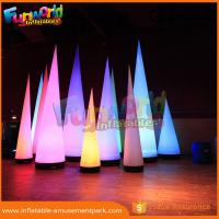 Buy cheap 3m Height Oxford Inflatable LED Lighting Cone For Event / Party Decoration product