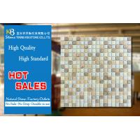 Quality Glass mosaic mixed stone tile white blue art beige marble tile for sale