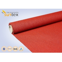 Buy 960 G/sqm Red Silicone Coated Fiberglass Fabric For Heat And Cold Insulation at wholesale prices