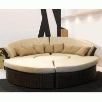 Quality wicker rattan living room furniture sofa set for sale