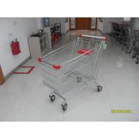 Buy cheap Zinc Plating Large Supermarket Shopping Carts 240L With 4*5inch Wheels from wholesalers
