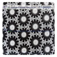 Buy Fashion Big Black Floral Cotton Lace Fabric , 50% Cotton 50% Polyester at wholesale prices