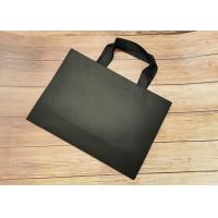 China Cloth carrying Tote Paper Bag Recyclable SGS,FDA certified with black silk ribbon Handle on sale