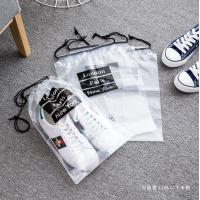 Quality travel transparent pvc clear drawstring bag for sale