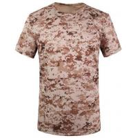 Quality Camouflage desert t-shirts army T-shirt military T-shirt Round Collar/POLO for sale