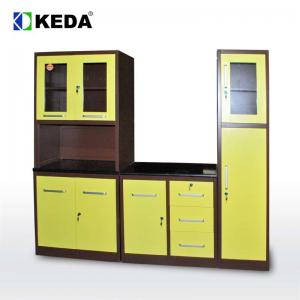 Quality New Design 0.5mm H1920mm Green Kitchen Cabinets for sale
