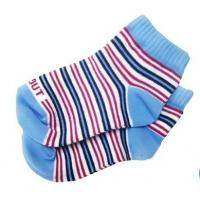 Custom Eco-friendly Striped Colorfull Knityed Anti-Skid Socks with Organic Cotton for Baby