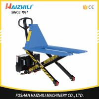 Quality Hot selling 1000kg high lift electric scissor lift pallet truck for sale