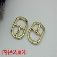 Quality Fashion popular hardware accessories 20 mm zinc alloy gold oval pin buckle for shoes clothing hardware accessories for sale