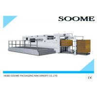 China Corrugated Paper Flat Bed Press Die Cutting And Creasing Machine Semi Automatically on sale