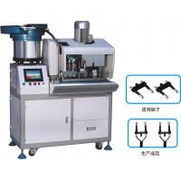 Buy cheap Euro 2 Pin Automatic Plug Strip And Insert Machine , Fully Automatic Crimping from wholesalers