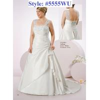 Quality Lace Straps Aline Plus size Lace up bridal gown#5555WU for sale