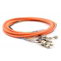 Buy cheap 2.0 / 3.0mm Optical Fiber Pigtail Flexible SM MM OM4 OM3 FC 4 - 48 Core For WAN product