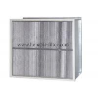 Quality Deep Pleat Type High Temp Hepa Filter Performance With Aluminum Foil Separator for sale