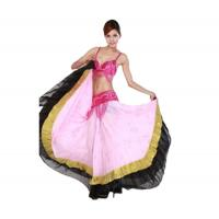 Quality Chiffon Embroidered Belly Dancing Skirts Practice Performance Costumes In Purple for sale