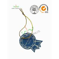 China Multi Colored Clothing Hang Tags With Metallic String Round Corner Shape on sale