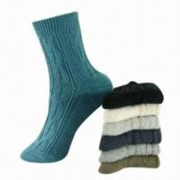 Quality Double Cylinder Ladies Socks, Made of combed cotton for sale