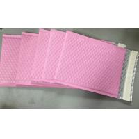 Custom Aluminum Foil Pink Metallic Bubble Envelope Moisture Proof