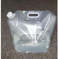 Quality 5L 10L Folding Stand up Plastic Spout Drinking Water Container Bags with Portable Handle for sale