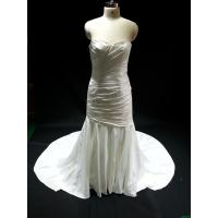 Quality Wedding Dress Sweetheart Satin Material Wedding Gowns Sleeveless Ruffle Bridal Dress BYB-14574 for sale