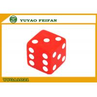Quality 16mm Custom Acrylic Dice Two Six Sided Dice Set  Red Square Corner for sale
