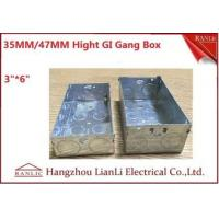China 3*6 Metal Electrical Gang Box BS4662 Hot Dip Galvanized Coil With Adjustable Ring on sale