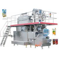 China 35KW Stainless Carton Brick Beverage Packaging Machine Beverage Filling Line 125 - 350ml on sale
