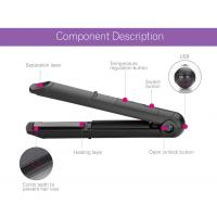 Quality Usb Cordless Rechargeable Curling Tools Battery Operated Flat Iron For Outdoor for sale