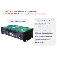 Quality 1 Channel HD Encoder Digital TV Modulator with USB and Web server Management for sale