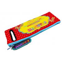 Quality Zippered Textile Neoprene Pencil Case With Colorful Printing For Kids for sale