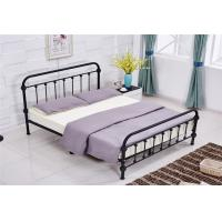 Quality Light Blue / Grey Full Size Modern Upholstered Beds Double With Wood Frame for sale