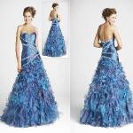 Quality Strapless A-Line Organza Prom Dress (AL20085) for sale